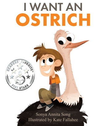 I Want an Ostrich Front Cover with Readers' Favorite Star